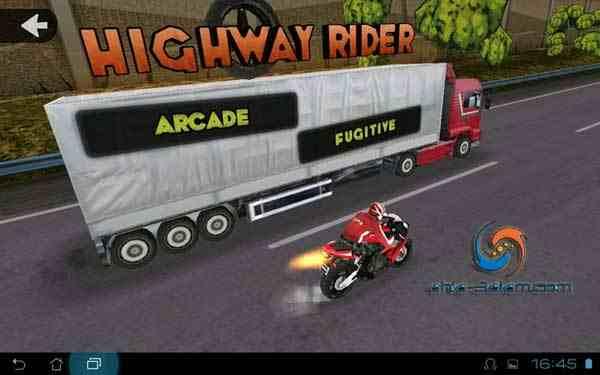 لعبة Highway Rider تطبيق اندرويد لعبة سباق دراجات