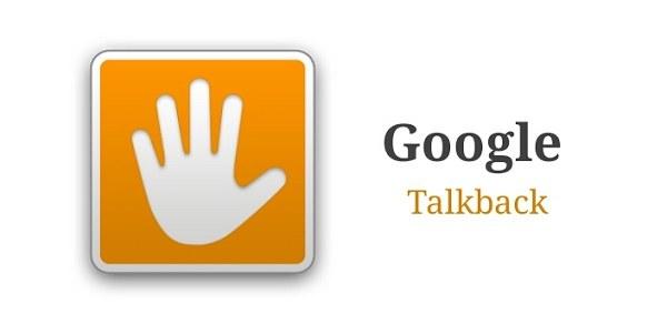 تطبيق ارشاد الاعمى جوجل تالك باك على جهاز الأندرويد