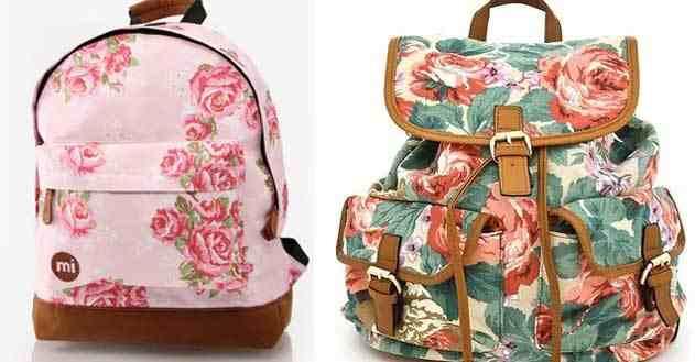 حقائب بنقشات الزهور