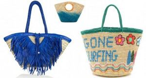 حقائب قش شاطئية