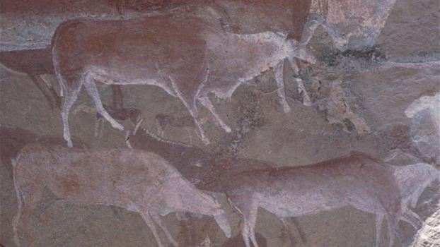 رسم بالحليب يعود تاريخه ل 49000 عام