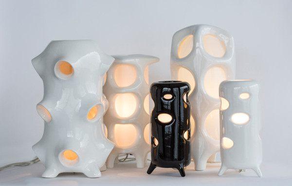 مصابيح من السيراميك قمة في الابداع من تصميم ENTLER