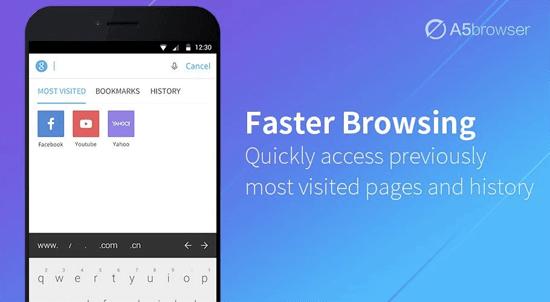 تحميل تطبيق متصفح A5 Browser اسرع متصفح على الاندرويد