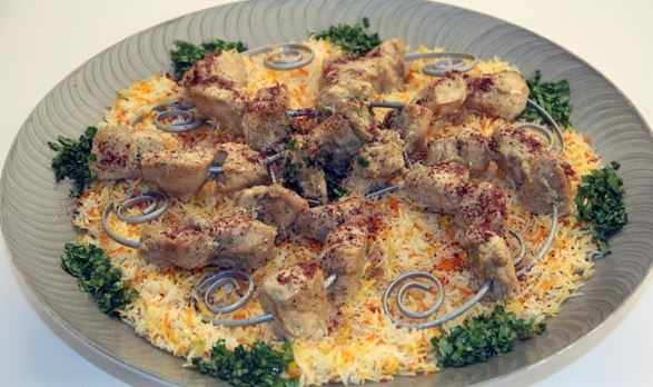 شيش طاووق مع الارز من مطبخ احلى عالم