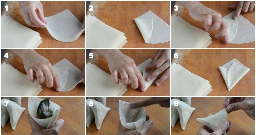 طريقة تحضير عجينة السمبوسك وطريقة تشكيلها