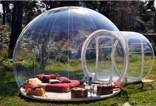 خيمة الفقاعة الشفافة