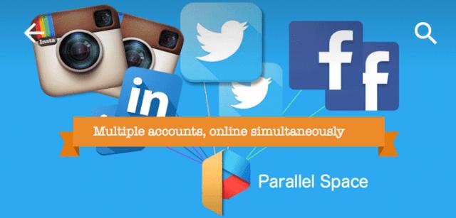 انشاء حسابين لتطبيقات الاندرويد تطبيق Parallel Space
