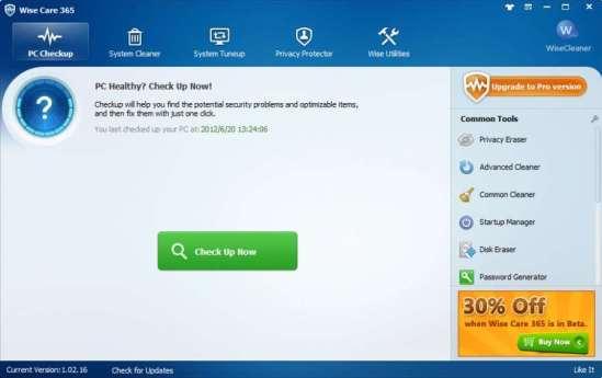 برنامج صيانة الكمبيوتر Wise Care تحميل افضل برنامج صيانة