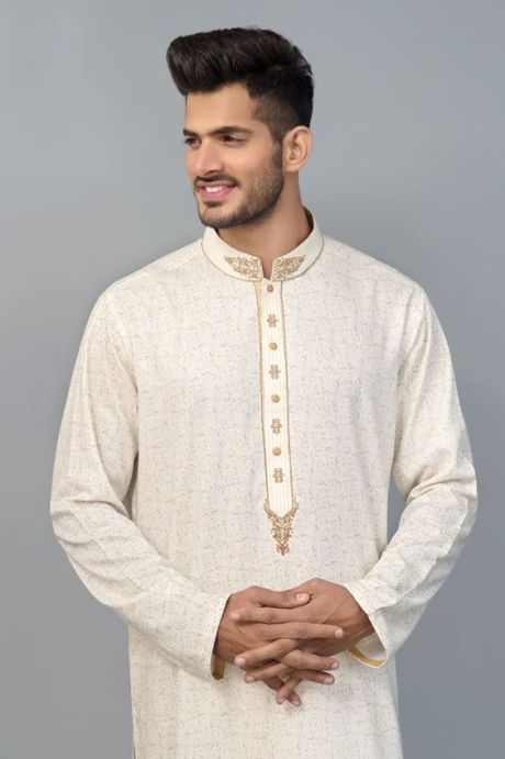 ثوب خليجي أبيض للرجال