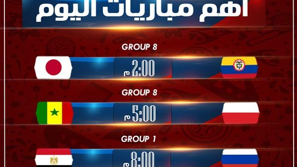 أهل مصر مواعيد مباريات كاس العالم 2018 اليوم الثلاثاء 196