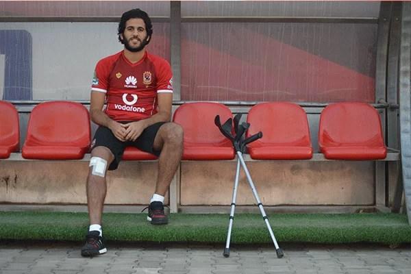 مروان محسن يبدأ جلسات التأهيل في الجيم