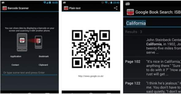 android mobil barcode scanner