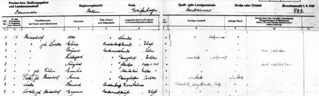 Auszug Gemeindeseelenliste Neu Zarnow