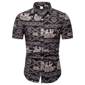 AliExpress explosive men's casual short-sleeved shirt