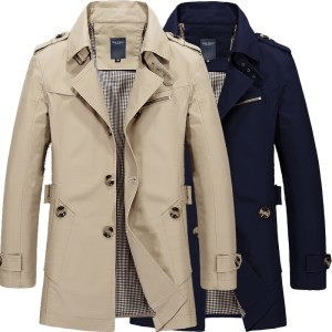 Amazon's new jacket men's explosive jacket outdoor cotton trench coat men's jacket