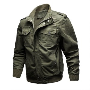 AliExpress Amazon spring large size outdoor casual tooling jacket men's cotton jacket manufacturers custom