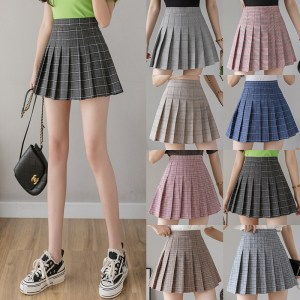 pleated skirt female short skirt high waist Korean new skirt female summer autumn large size word group embroidery student skirt