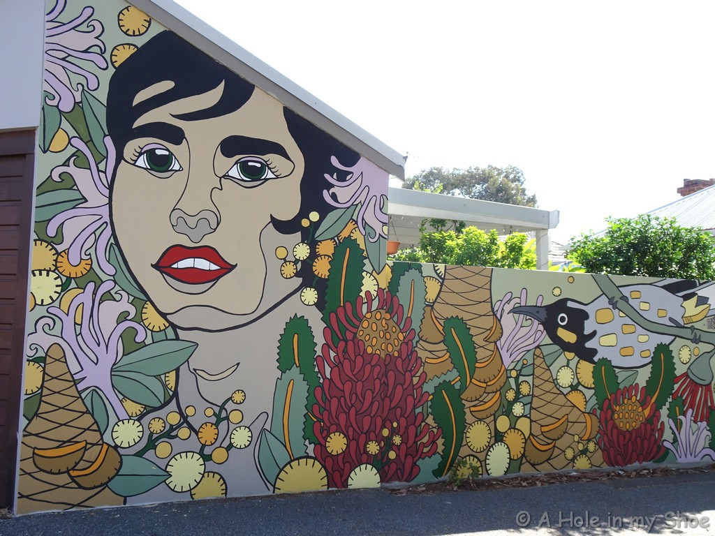 Painted by Melski behind Fresh Provisions in Mt Lawley