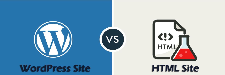 wordpress vs HTML site-ahomtech.com