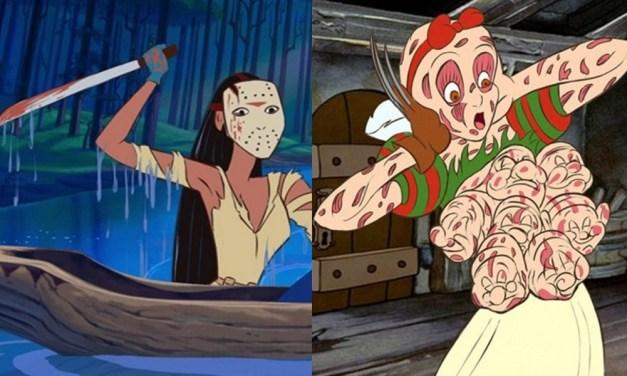 Artista transforma personagens da Disney em personagens de filmes de terror