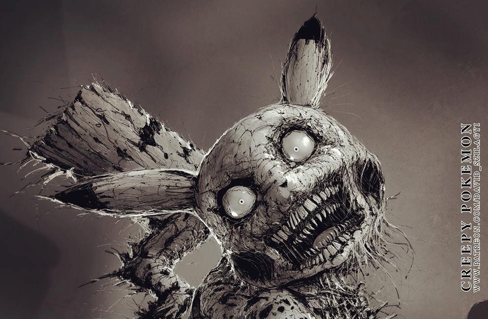 Artista transforma os personagens de Pokémon em monstros sombrios