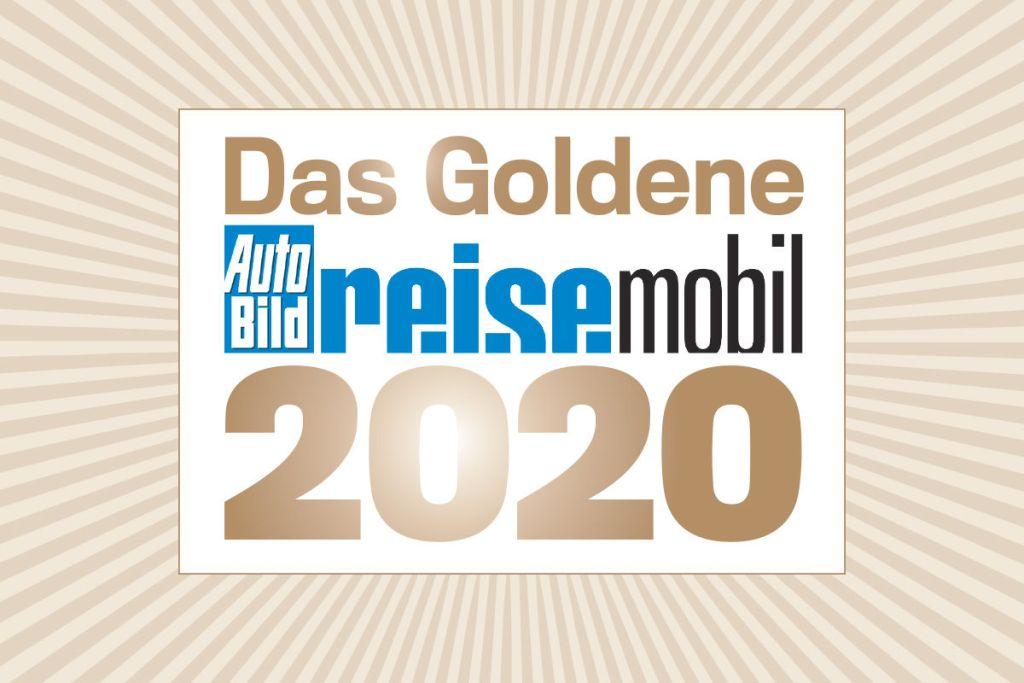 Logo des Goldenen Reisemobils 2020