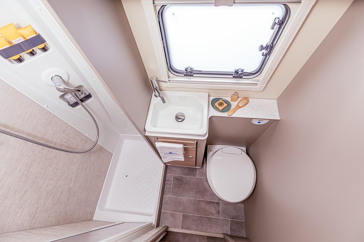 Badezimmer im Wohnmobil