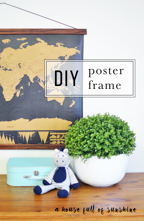 simple diy poster frame a house full