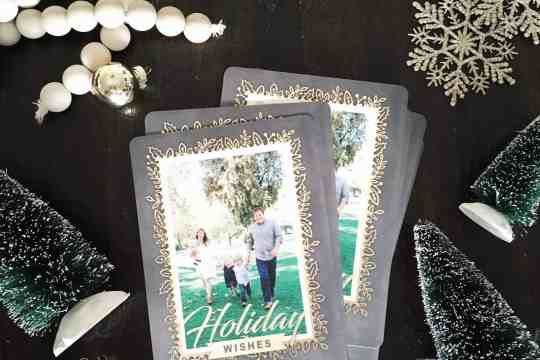 Our 2016 Christmas card and how to create custom Christmas cards for half the price.