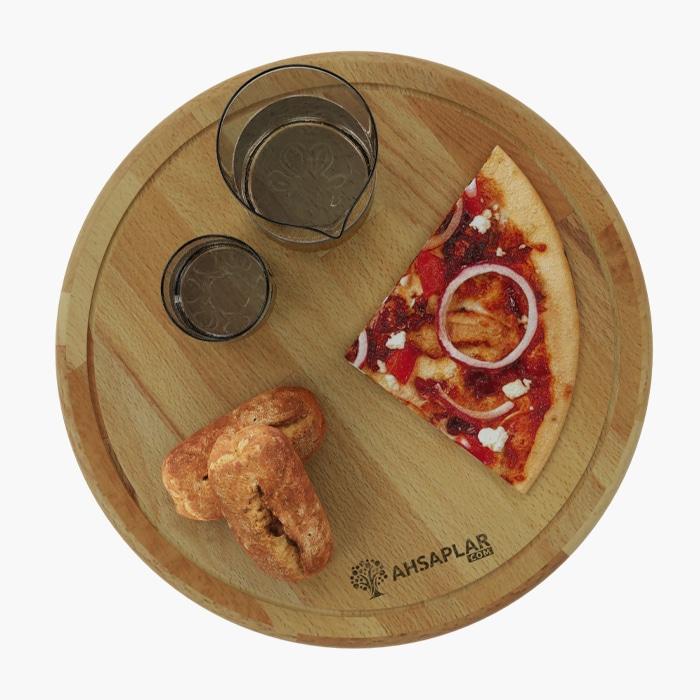 Kayın Pizza Tabağı