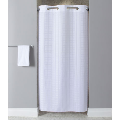 hookless litchfield polyester shower curtain stall size 42x74 white 12 per case price per each