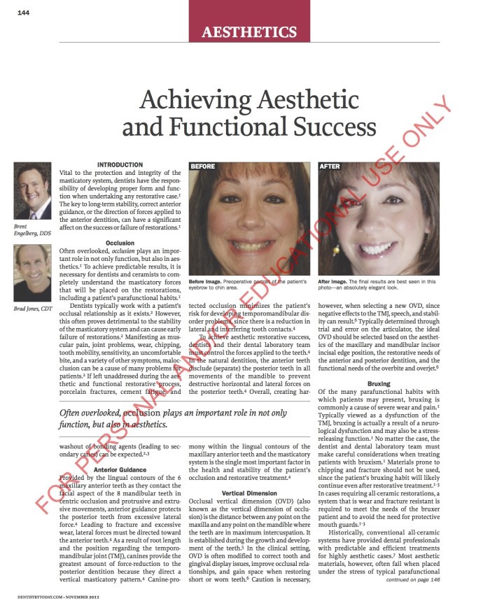 Nov. 2011<br/>Achieving Aesthetic and Functional Success