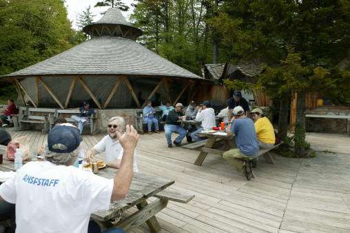 Meals and talks are held at the charming, rustic facilities of The Mountain Institute.