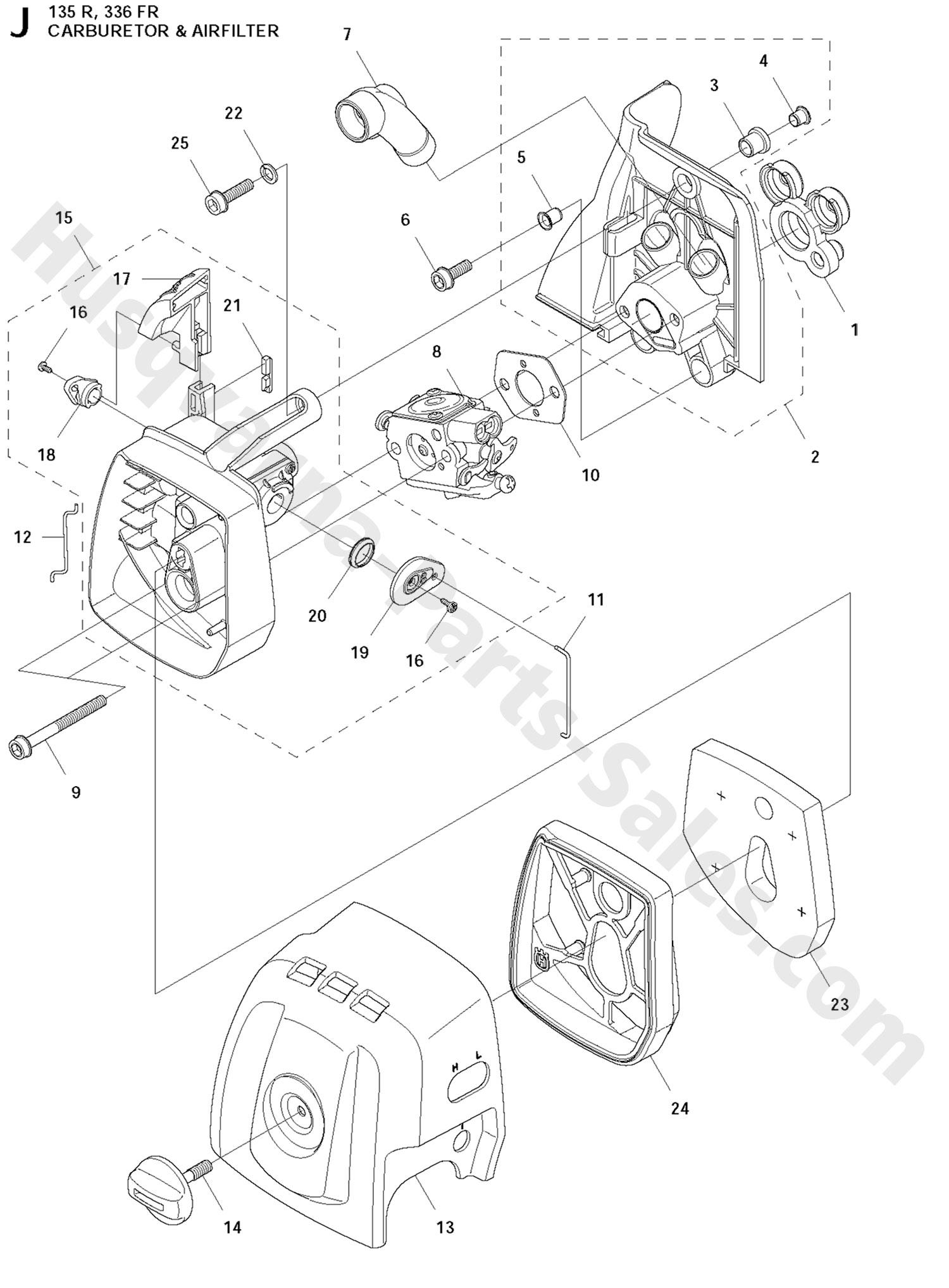 336fr Husqvarna Brushcutter Carburetor Amp Air Filter Parts