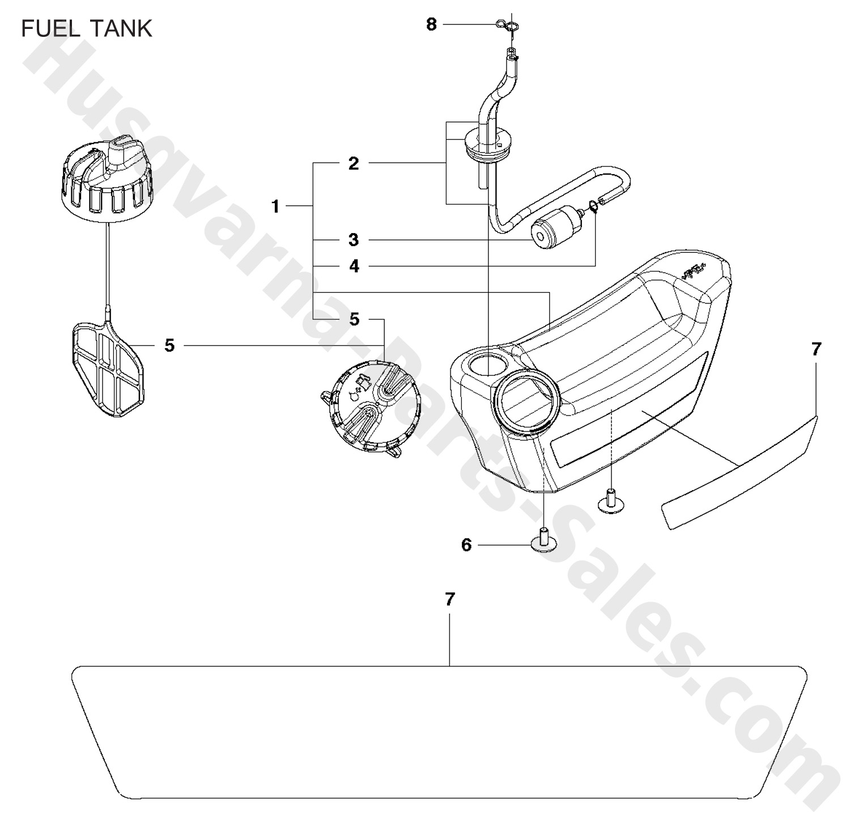 130bt Husqvarna Backpack Blowers Fuel Tank Parts