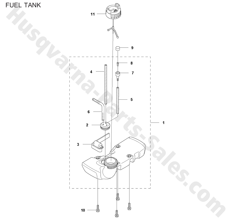 122c Husqvarna Trimmer Amp Edger Trimmer Parts Fuel Tank Parts