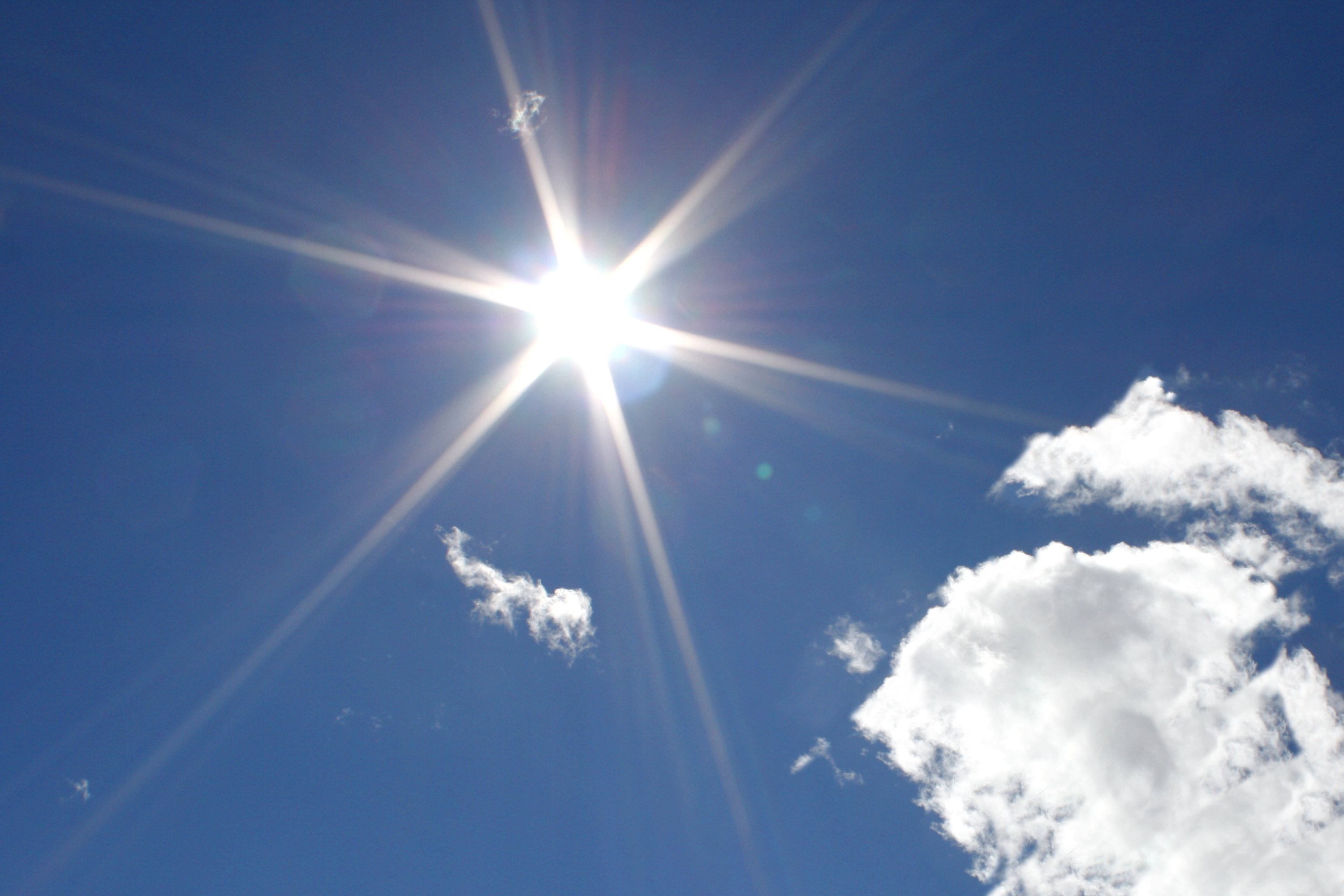 Image result for sun in blue sky