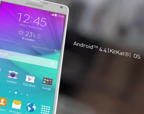 HP android kitkat Samsung GALAXY Note4 Feature