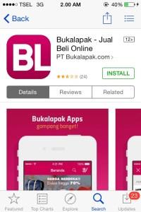 Install Apps BukaLapak
