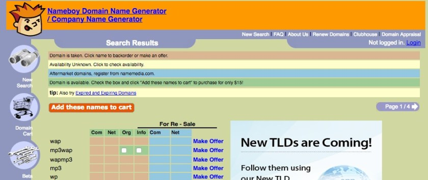 Buy Domain Name URL Finder Buy Domain Names