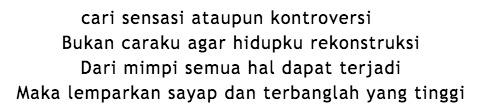 Lirik lagu Hidup Berawal Dari Mimpi Bondan Feat Fade2Black