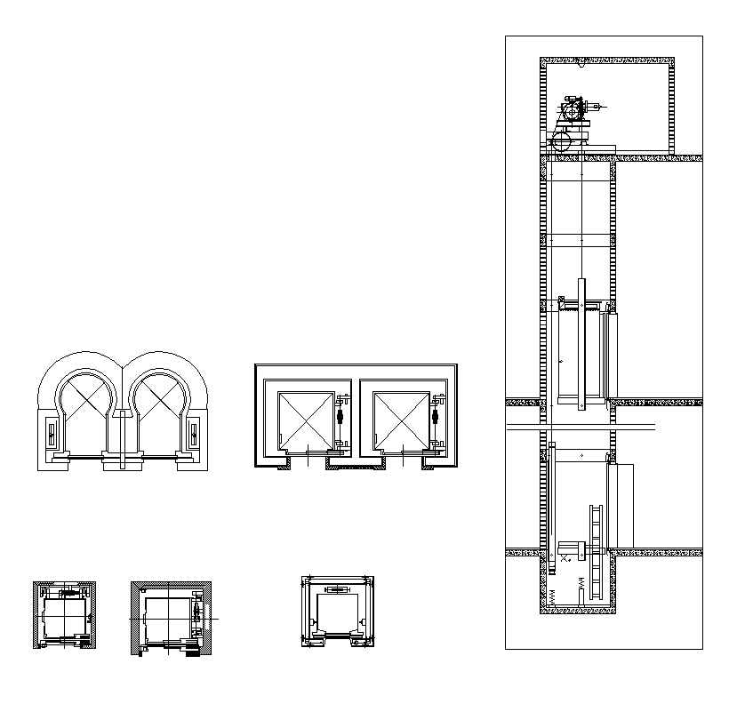 Free Lift Block 1 Architectural Autocad Drawings Blocks