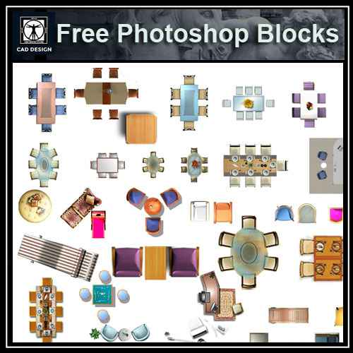 Free Photoshop Psd Desk Blocks 2 Architectural Autocad Drawings
