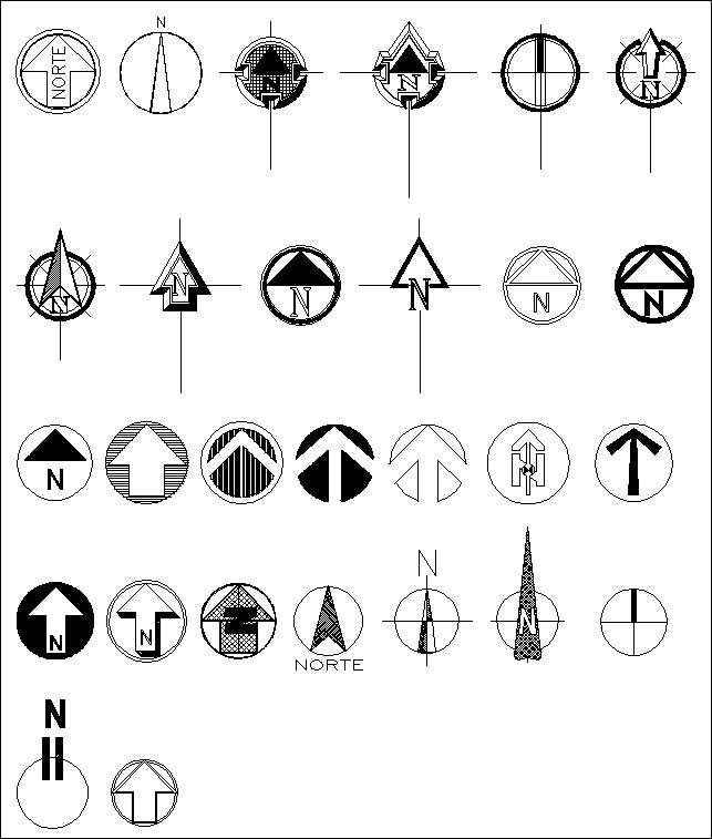 Free North Symbols Architectural Autocad Drawingsblocksdetails