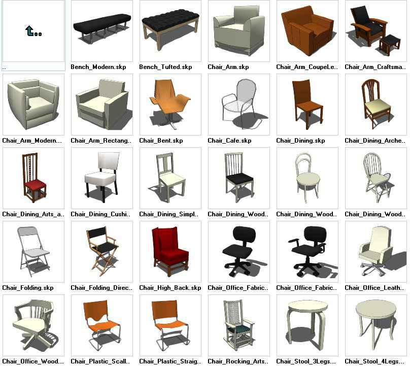 Sketchup Seating 3D models download