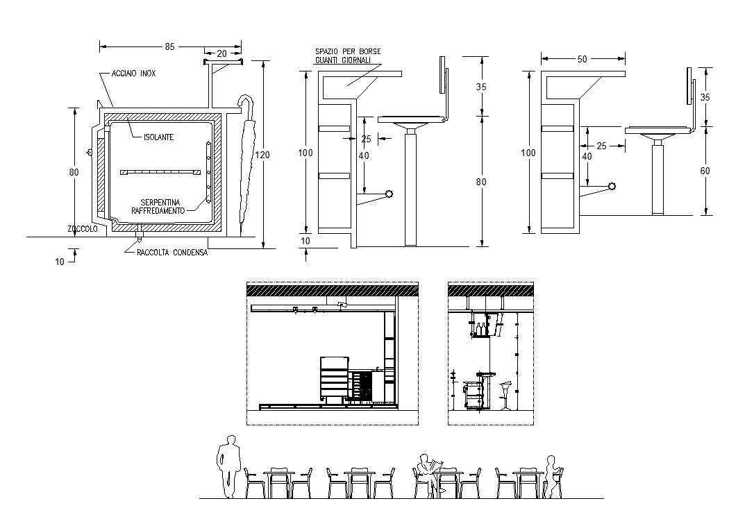 pub and bar design 1 architectural autocad drawings blocks details