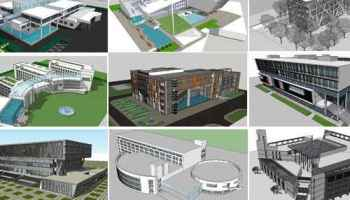 Download 13 Types of Villa Sketchup 3D Models】 (Recommanded