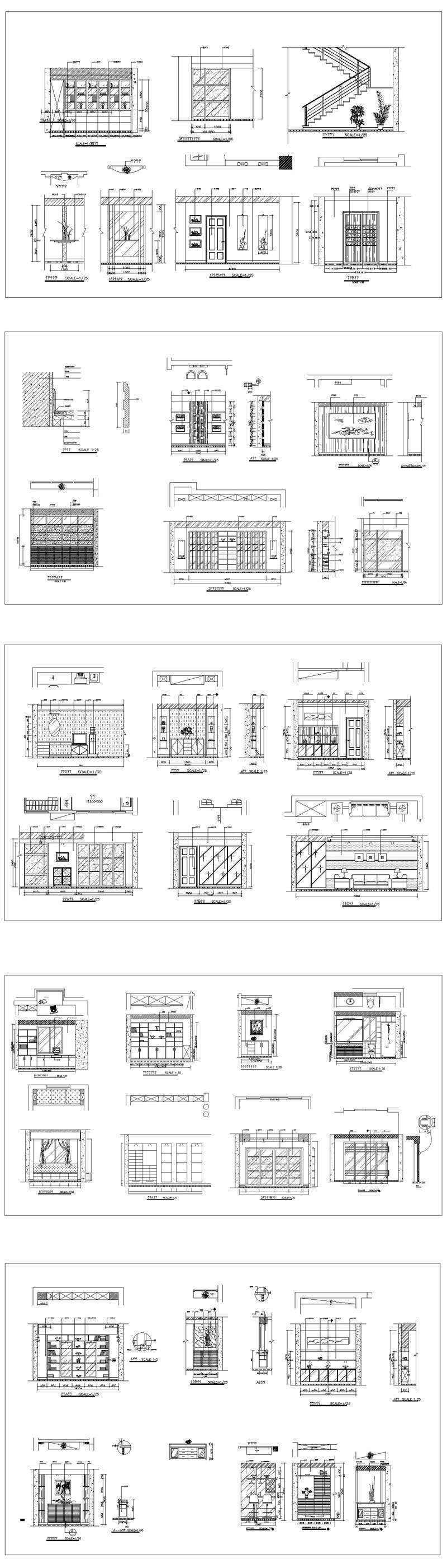 Interior Design CAD Design,Details,Elevation