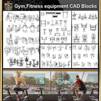 ★【All Gym,Fitness equipment CAD Blocks Bundle-Stadium,Gymnasium, playground, sports hall】@Gem CAD Blocks,Autocad Blocks,Drawings,CAD Details