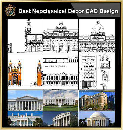 ☆【Neoclassical Style Decor CAD Design Elements Collection】Neoclassical  Interior, Home Decor,Traditional Home Decorating,Decoration@Autocad Blocks  ...